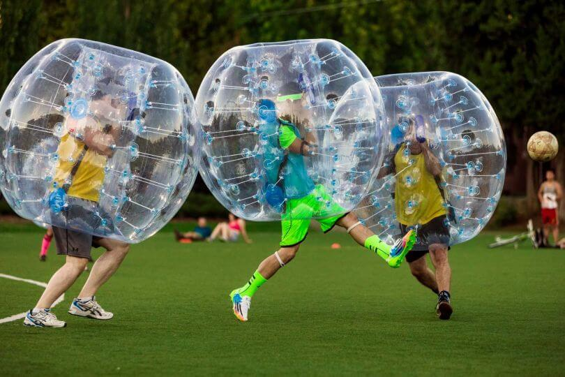 bubble footbal